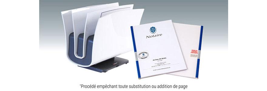 Reliure Notariale sécurisée : ne perdez plus de temps à parapher les pages !